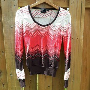Stunning Volcom Sweater Gradient Size Large